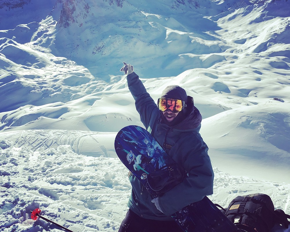 Snowboard course coaching tignes