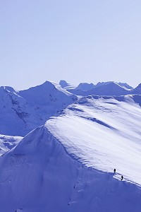split boarder in tignes image of