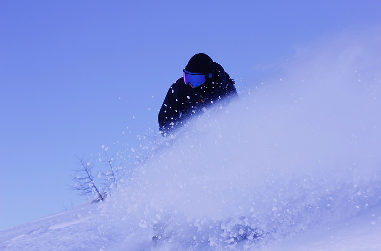 Freeride Snowboard lesson in tignes image of